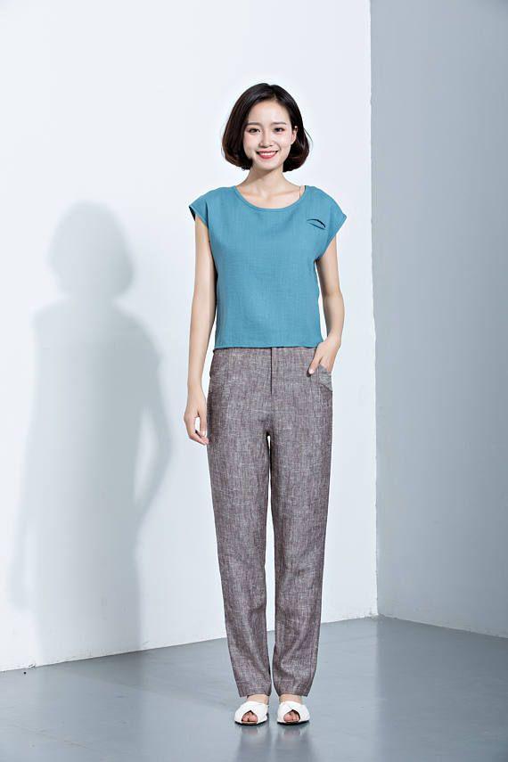 Linen PantsCasual Pants Linen TrousersHarem