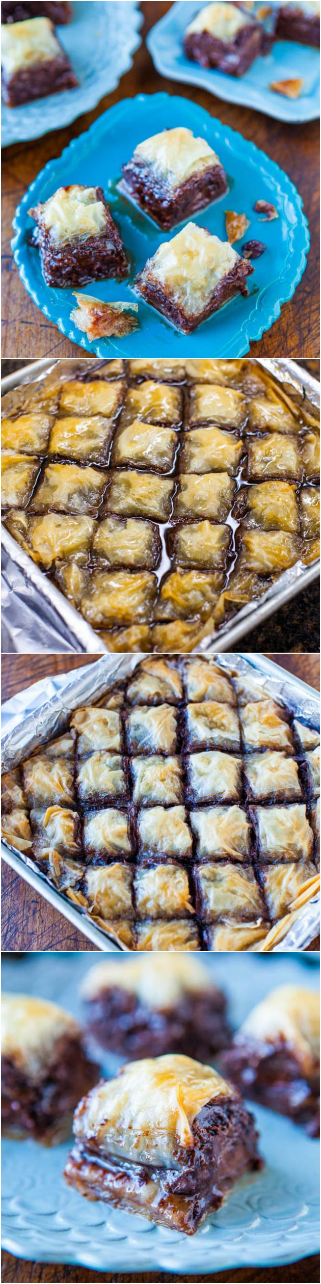 Nutella Chocolate Chip Baklava Recipe ~ This version is loaded with Nutella... rich, indulgent, comforting!