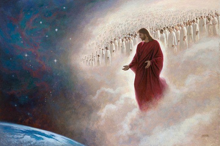 """""""Parting the Veil"""" by Jon McNaughton. The second coming of Christ. POWERFUL imagery here too... first time I saw this one I got chills all over."""