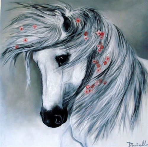 Horse Paintings by Famous Artists | do works of art with acrylic painting. The texture works very well ...