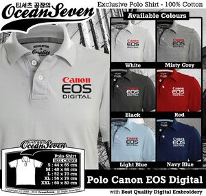 Kaos Polo Canon EOS Digital - PIN BB: 26460DF6