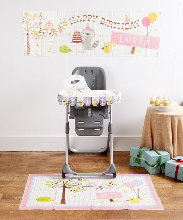 Look at this Pink High Chair Decoration & Banner Set on #zulily today!