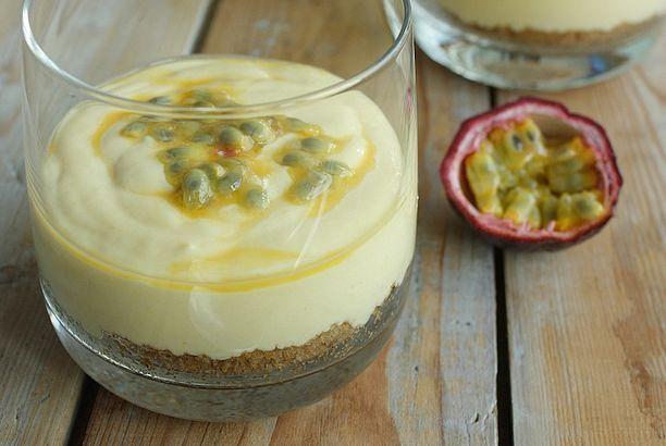 Mango cheesecake toetje