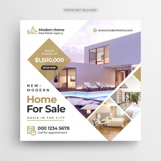Real Estate Sale Social Media Banner Or Square Flyer Template Premium Psd Prem Hotel Marketing Design Social Media Design Inspiration Real Estate Banner