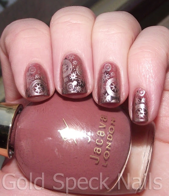 Gold Speck Nails: Steam Punk Nails