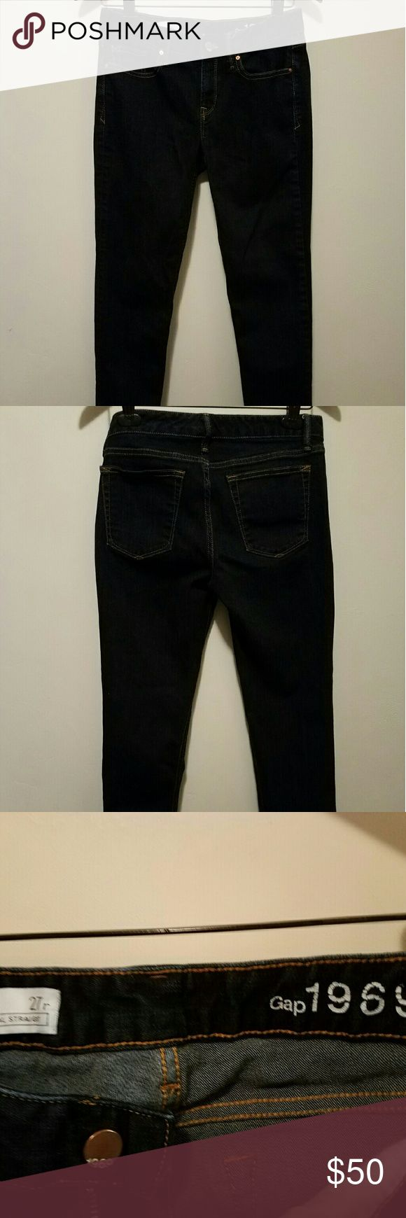 Gap women's jeans Gap original 1969 real straight. Size 27 regular. GAP Jeans Straight Leg