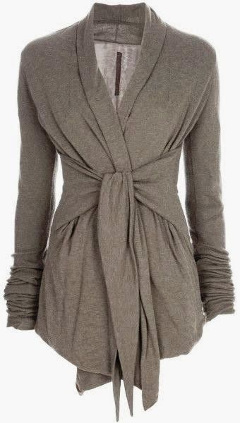 Long Sleeves Gray Wrap Up Cardigan | Fashionista Tribe