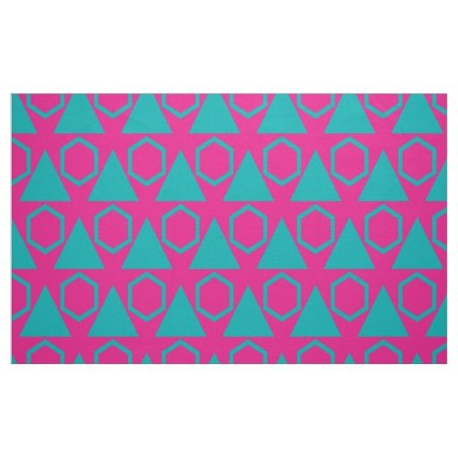 Triangles and honeycombs pattern fabric