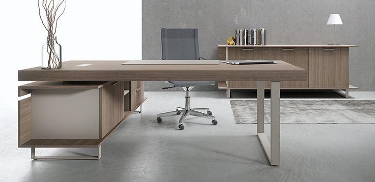 Executive office desk Essence by Uffix, design Driusso associati