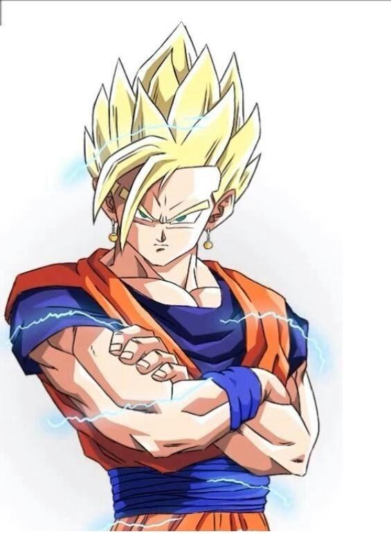 Goku Y Gohan Fusion Ssj2 Dragon Ball Artwork Dragon Ball Z Dragon Ball Art