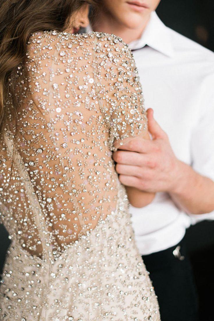 Sequin sparkle wedding gown