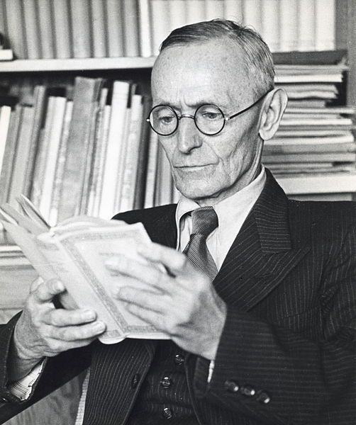 """universitybookstore:  """" Happy Birthday Herman Hesse  Born on this day in 1877, German author and Nobel Laureate Herman Hesse. His three most popular novels—Demain, Siddhartha, and Steppenwolf—still enjoy a wide readership, particularly in high schools..."""