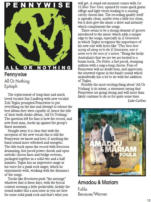 dB mag album review