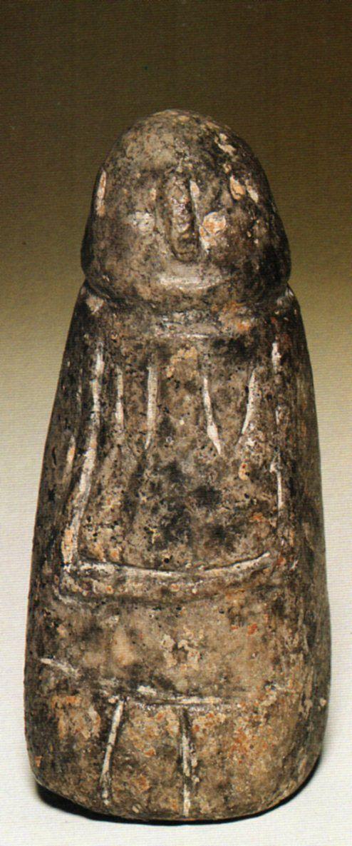 Çatalhöyük,Stylized Mother- Goddess Figurine Stone, level VI. Belma Kulaçoğlu (Erdinç Bakla archive)