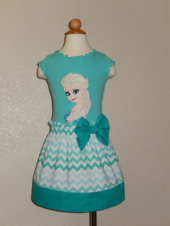 Elsa Frozen Shirt and skirt Outfit by Just4Princess on Etsy