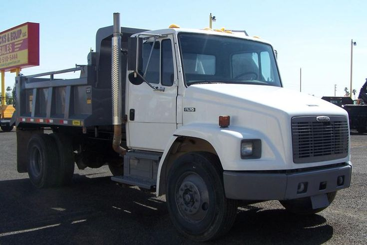 2000 FREIGHTLINER FL70 DUMP TRUCK FOR SALE IN PHOENIX . . ONLY 65,000 ACTUAL CITY OWNED MILES! . . . . Cat 3126 Diesel, Eaton Auto-Shift Trans, Working AC, Clean Truck . . . ONLY $19,900 . . . .  HD TRUCKS & EQUIP LLC ... (602) 510-5444 ... www.HDTrucksAndEquipmentSales.com