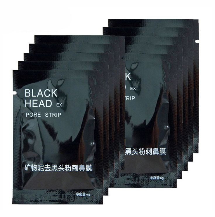 AddFavor 7PC Beauty Face Care Nose Herbal Blackhead Remover Tool Mask Pore Strips Facial Skin Minerals Nose Black Head Cleaner