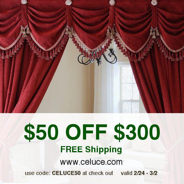 celuce design luxury swag valance curtains on sale