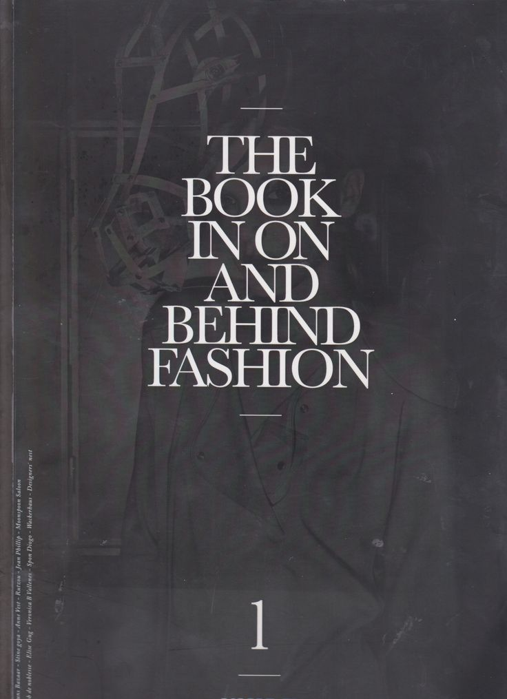 THE BOOK IN ON AND BEHIND FASHION // 2011// BY PHOTOGRAPHER GAVIN DAVIES
