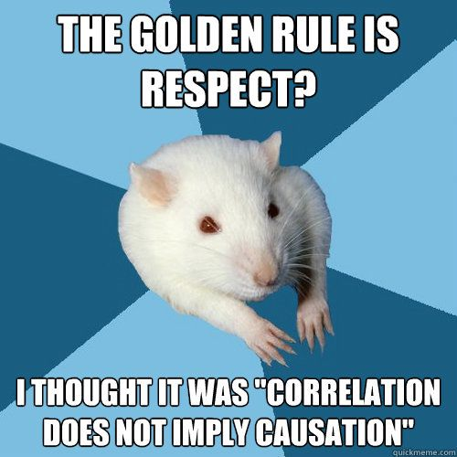 Must be from my past students!...;-)... Psychology Tenets...golden rule