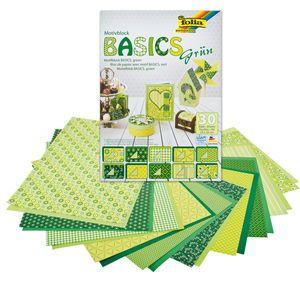 Motivblock, 30 Blatt Basics grün (24 x 34 cm)