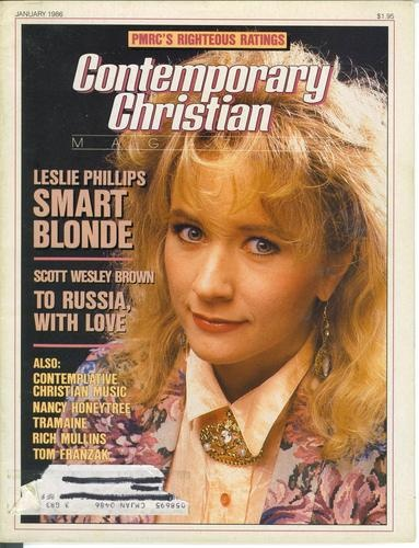 CCM Magazine Jan 1986 Leslie Phillips (renamed herself Sam Phillips and gained mainstream success!)