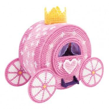 Fairy Tale Carriage Plastic Canvas Kit