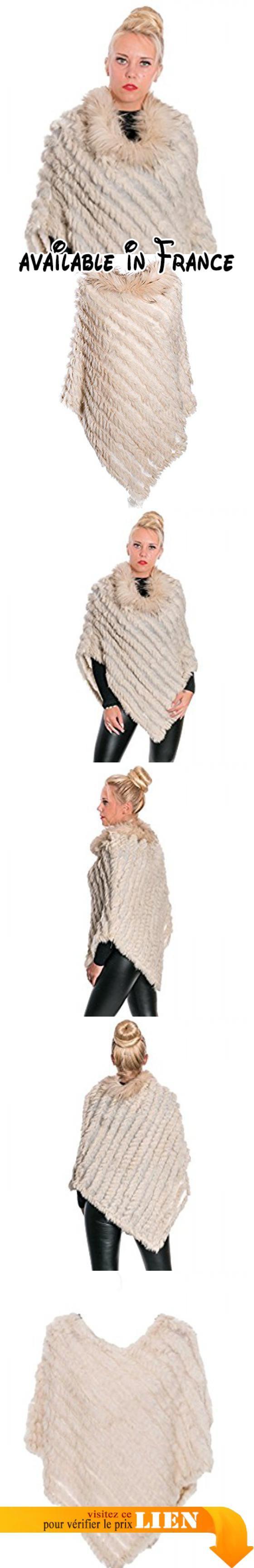 B01LZXPGCH : Gadzo - Poncho - Femme - beige - One Size.