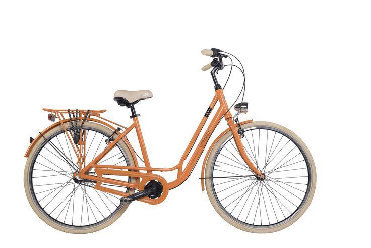 """Dámské městské kolo Cossack Moonrider 19,5""""/3r, oranžové Dámské městské kolo v retro stylu Cossack Moonrider s 3 rychlostním řazením a lehkým hliníkovým rámem bylo navrženo pro eleganci i pro Váš komfort. Konstrukce tohoto kola byla vytvořena pro snadný pohyb ve městě. Nechybí ani pevný zadní nosič. O Váš komfort se postará velké pohodlné sedlo, které doladí Váš požitek z jízdy. Za nepříznivého počasí Vás ochrání přední a zadní blatník, spolu s účinným krytem řetězu. Bezpečnou projížďku…"""