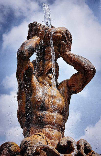 Bernini fountain in Rome, province of Rome, Lazio region Italy