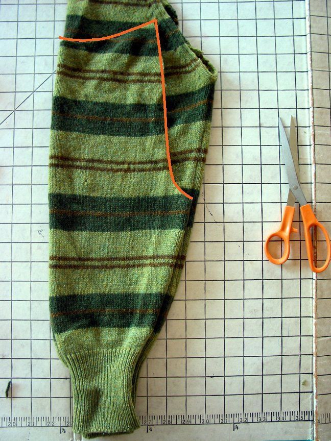 Kinderhose aus Wollpulli Ärmeln. Green Kitchen: Craft Blog, etc.