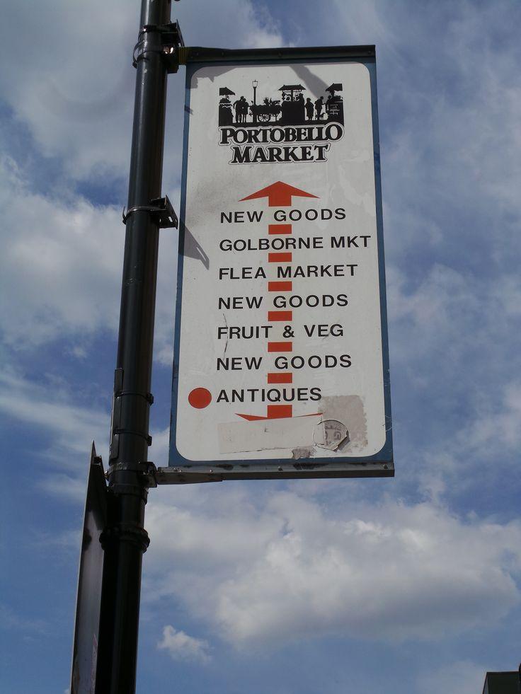 Portobello Market on a glorious day