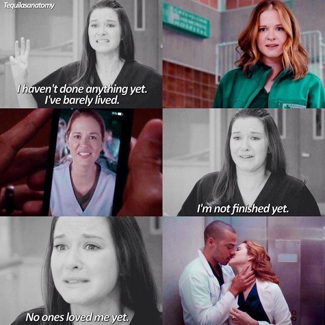 Once upon a time, a few years before.. I really hated to April Kepner. But now, I love her so much, she's stronger, kind, a soldier with hope.