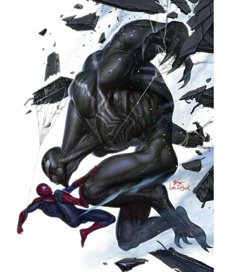 Spider-Man vs Venom by Lee Inhyuk