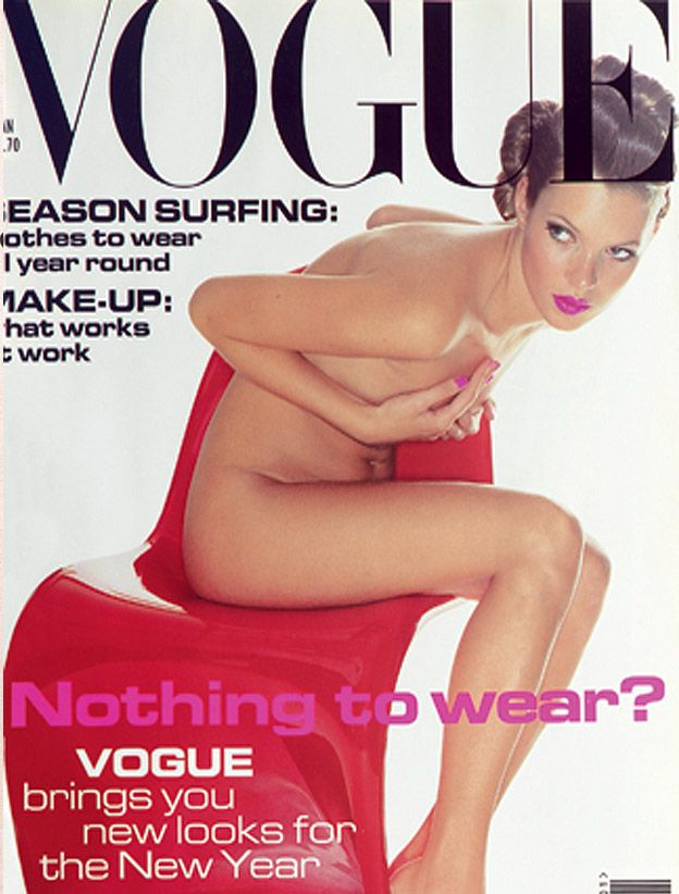Kate Moss British Vogue Cover January 1995