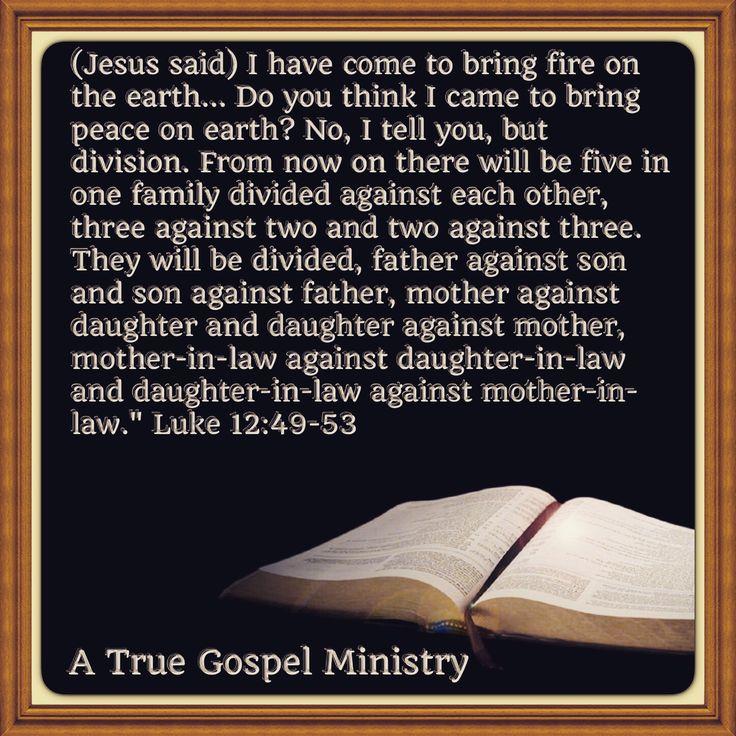 Morning Scripture: Luke 12:49-53 #morningscripture #scripturequote #biblequote #instabible #instaquote #quote #seekgod #godsword #godislove #gospel #jesus #jesussaves #teamjesus #LHBK #youthministry #preach #testify #pray #rollin4Christ #atruegospelministry