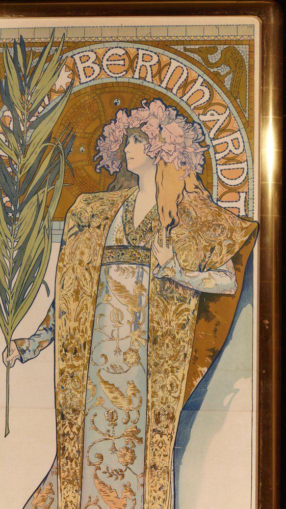 """Antiques Alphonse Mucha 1902 Lithograph """"les Documents Decoratifs"""" Pl 40 Street Price"""