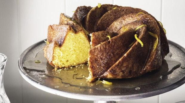 Smothered in a tart, sticky sauce, this zesty cake is a perfect choice for afternoon tea.