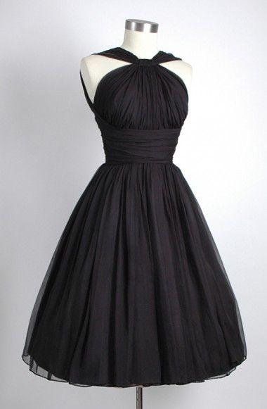 Vintage Knee-Length Homecoming Dresses,Sleeveless Homecoming Dresses,Open Back Black Homecoming Dresses Ruched