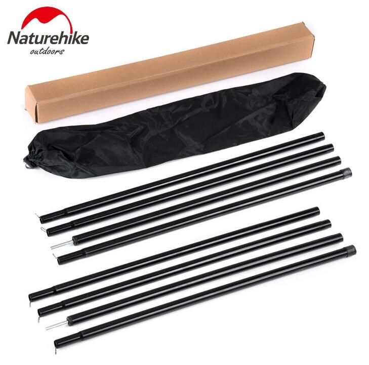 Get NatureHike 2*2m Black Reinforced Tent Pole 4 Sections Per Pole Sherardized Steel Rod for Tent Awning Tar Tarpaulin Outdoor #NatureHike #2*2m #Black #Reinforced #Tent #Pole #Sections #Sherardized #Steel #Awning #Tarpaulin #Outdoor