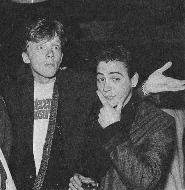 Anthony Michael Hall and Robert Downey Jr.