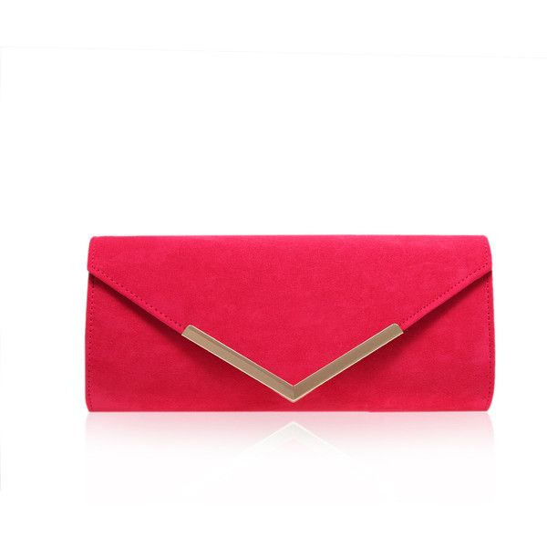 Daphne Carvela Kurt Geiger Pink ($61) ❤ liked on Polyvore featuring bags, handbags, clutches, pochette, pink, red purse, pink clutches, red clutches, party handbags and carvela kurt geiger