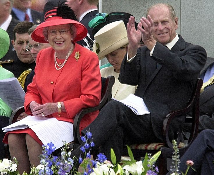 In the party mood: The Queen and Prince Philip watch a parade in Victoria Park as part of the Golden Jubilee celebrations