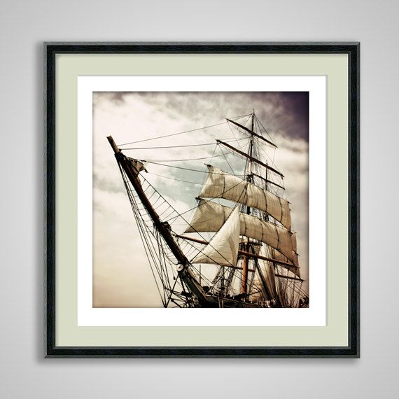 Peter Pan Pirate Ship Photography 8x8 photograph print children's room sinister Gothic 'Pirates' Life For Me'