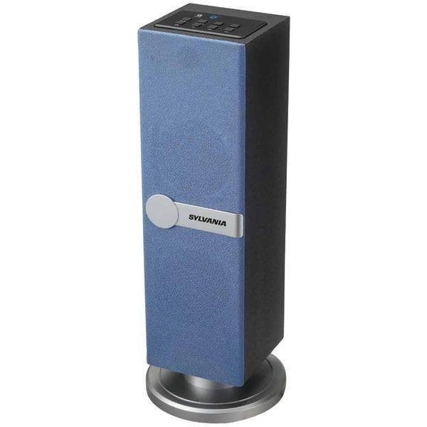Sylvania SP269-BLUE Bluetooth(R) Tabletop Tower Speaker (Blue)