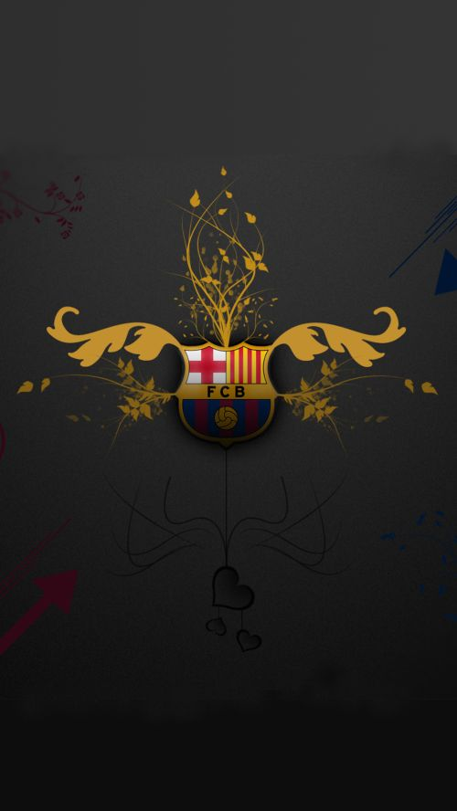 File attachment for Apple iPhone 6 Plus HD Wallpaper - Artistic Barcelona FC Logo in dark background