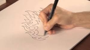 aprender a dibujar letras en llamas 3
