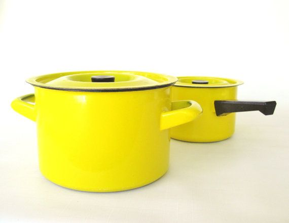Finel Enamel Cast Iron Dutch Oven Kaj Franck by LaurasLastDitch