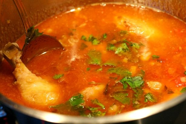 kip zoutvlees jus pom recept