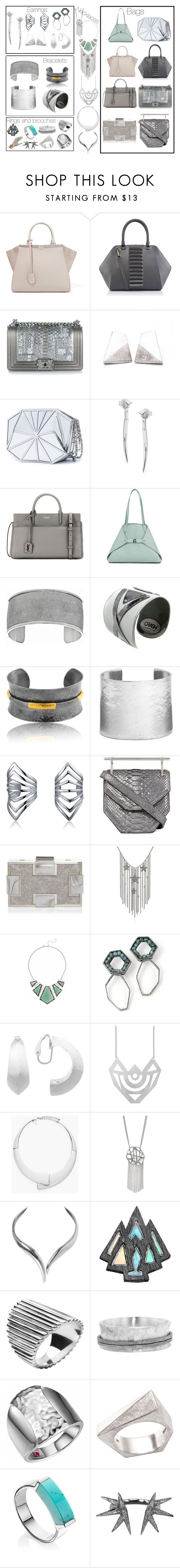 SuYa_accessories by skugge on Polyvore featuring mode, Fendi, Chanel, M2Malletier, Sondra Roberts, Kristina George, Yves Saint Laurent, Akris, Missoma and Karine Sultan